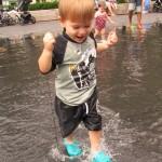 Ben in the Millennium Park Fountain