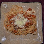 Whole Wheat Linguine and Turkey Bolognese