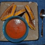 Grilled Cheese on Whole Wheat with Homemade Tomato Soup
