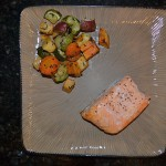 Baked Salmon with Roast Vegetables