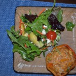 Stuffed Peppers and Salad