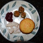 Millet Honey Muffins, Grilled Chicken with Leftover Cranberry Relish, Stuffed Mushrooms