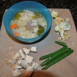 Italian Wedding Soup, Grilled Chicken, Green Beans and Parmesan Cauliflower