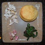 Pillsbury Biscuits, Honey Mustard Chicken, Roast Turnips, Sauteed Garlic Chard