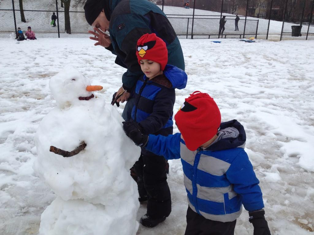 First snowman.
