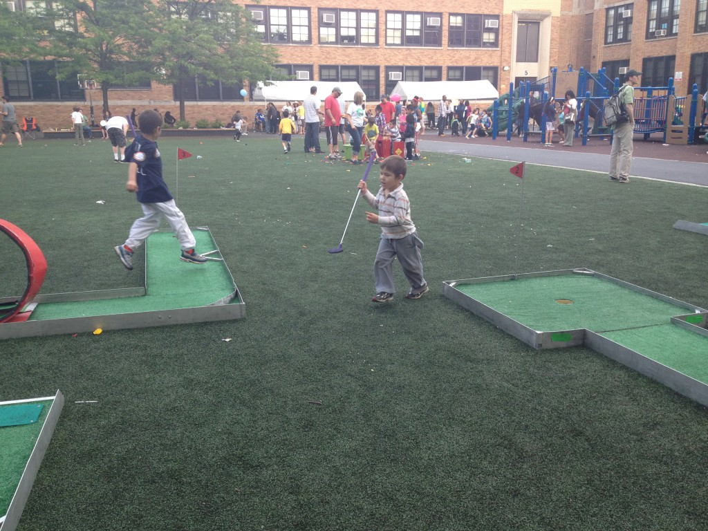 Mini Golf at the school fair.