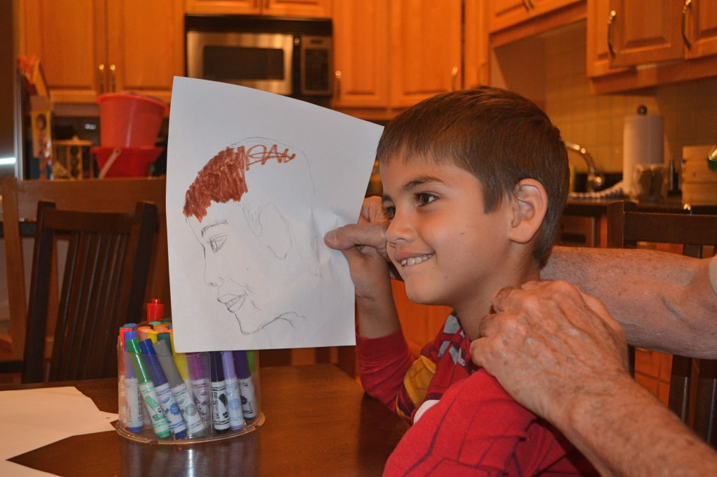 Dad drew a picture of Jack
