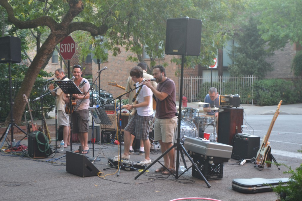 Block party's band.