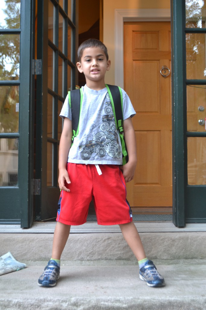 Jack starts 1st grade today.
