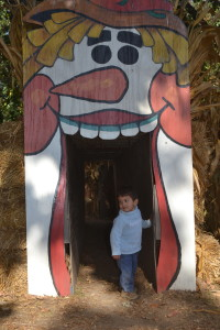 Aaron at the pumpkin patch yesterday.