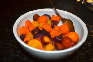 Simple Steamed Carrots.