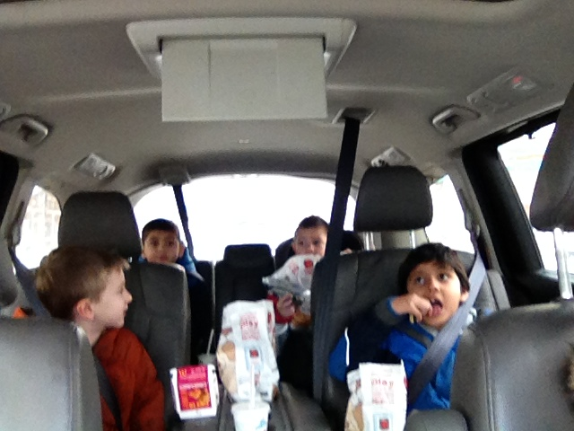 McDonalds and Phineas and Ferb for the ride to the Museum.