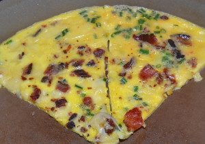 Chive, Bacon and Kerrygold Cheese Omelet