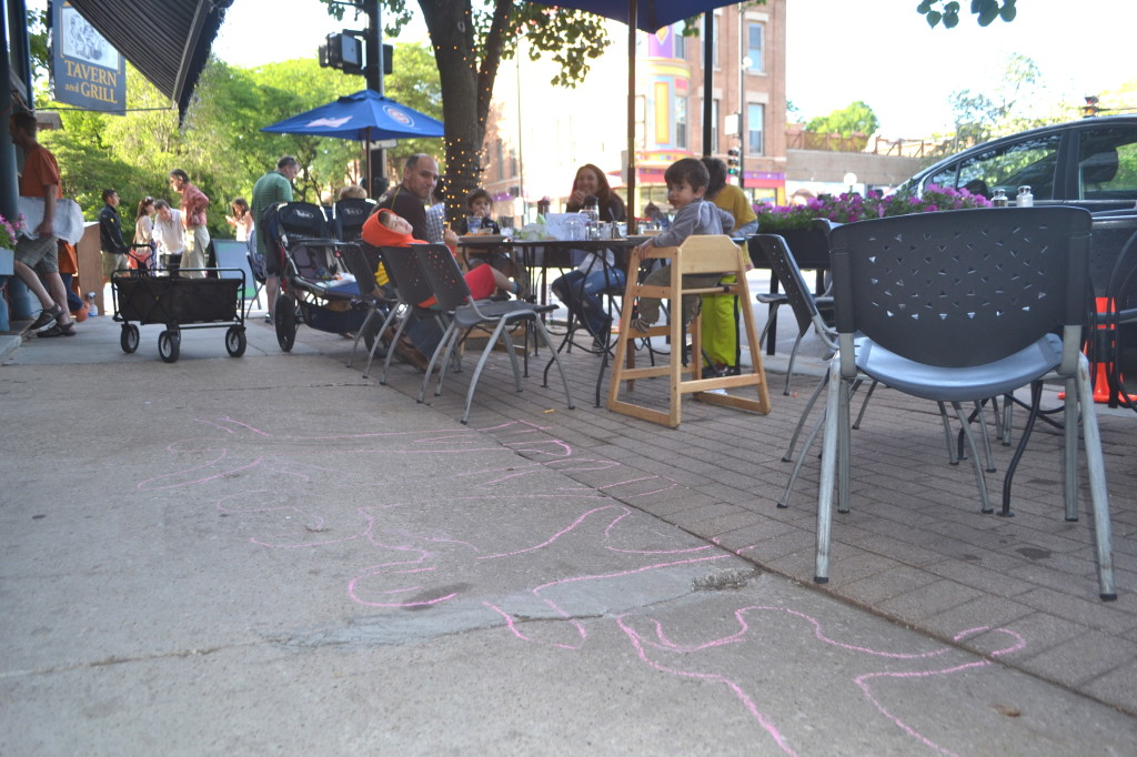 Mom Tip: Bring sidewalk chalk to outdoor dining spots to keep the kids happy!