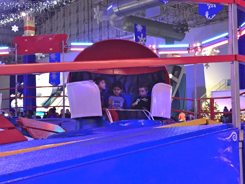 Jack and Timmy on the Tilt a Whirl.