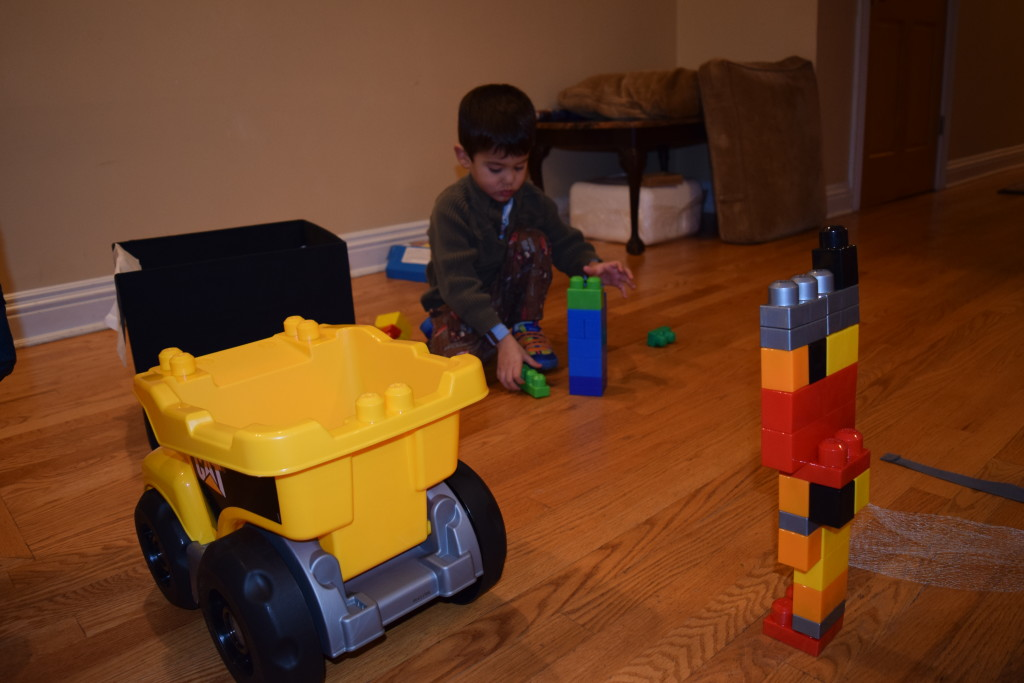 A pick up truck that looks exactly like one we have and more mega blocks