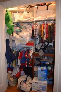 Ben's Closet Before