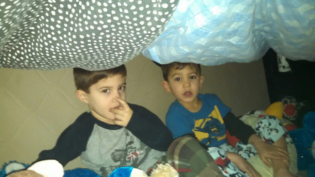 "Lara sent this one as well, titled ""Nose Picking Fort."""