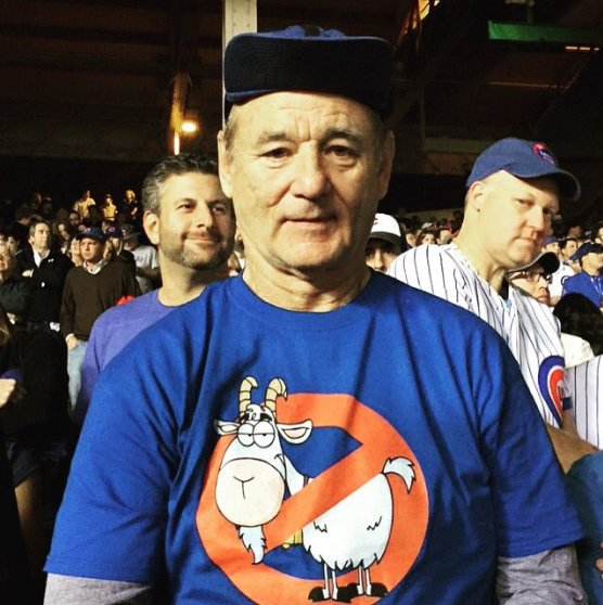 "Bill Murray at Wrigley -""I ain't afraid of no goat"""