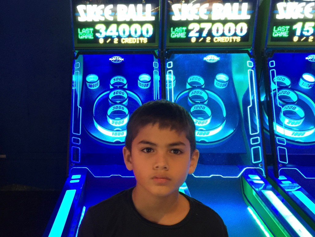 Jack's high score in Skeeball.