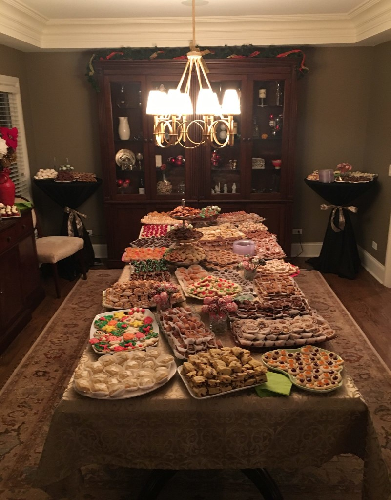Dessert Table at the holiday party.