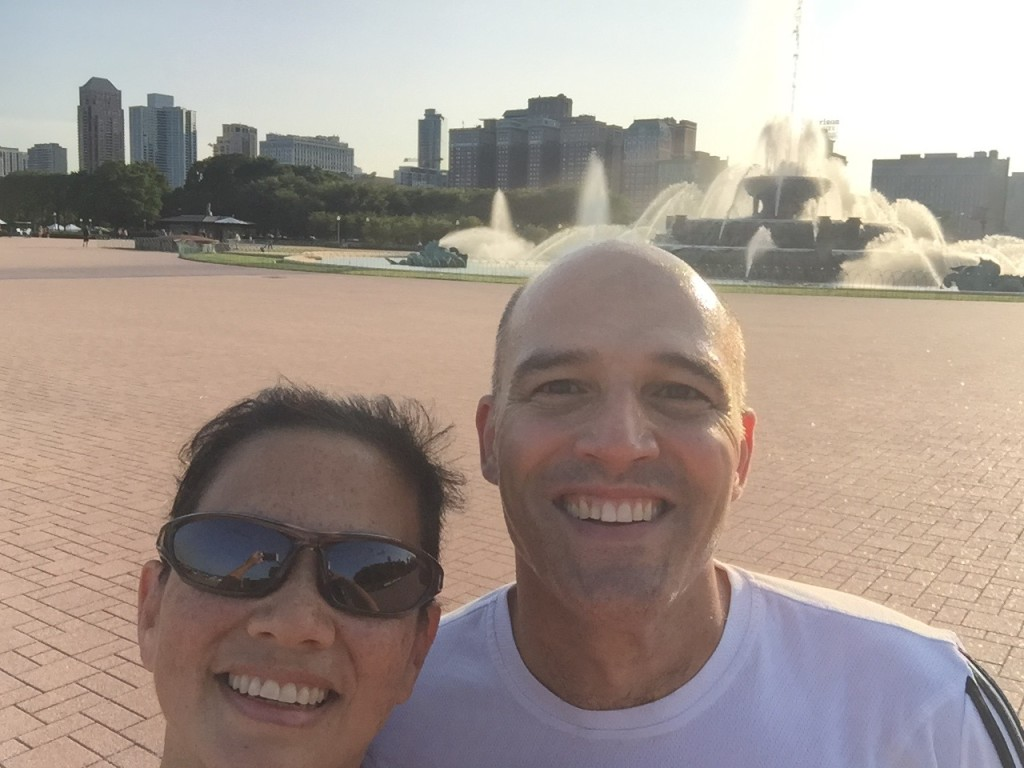First run to Buckingham Fountain.