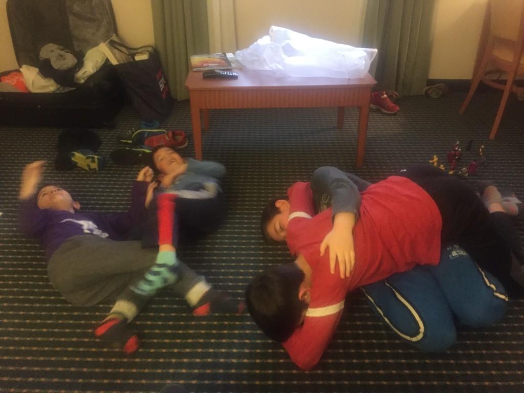 Hotel wrestling.