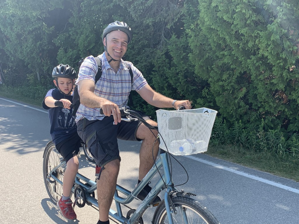 Ben rode tandem in Mackinac Island.